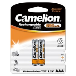 Camelion 2st batterier AAA NiMH 600mAh laddningsbara laddningsbart