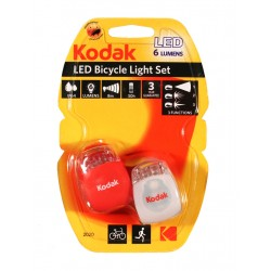 Cykellyse LED 2-pack inkl batterier